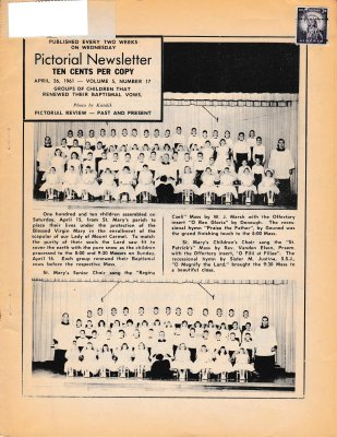 The Pictorial Newsletter: April 26, 1961