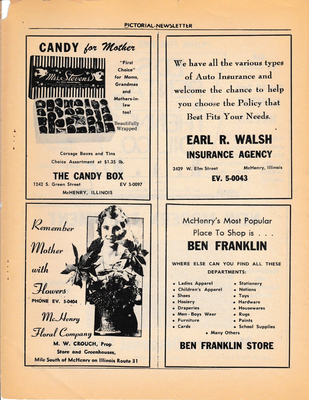The Pictorial Newsletter: May 10, 1961