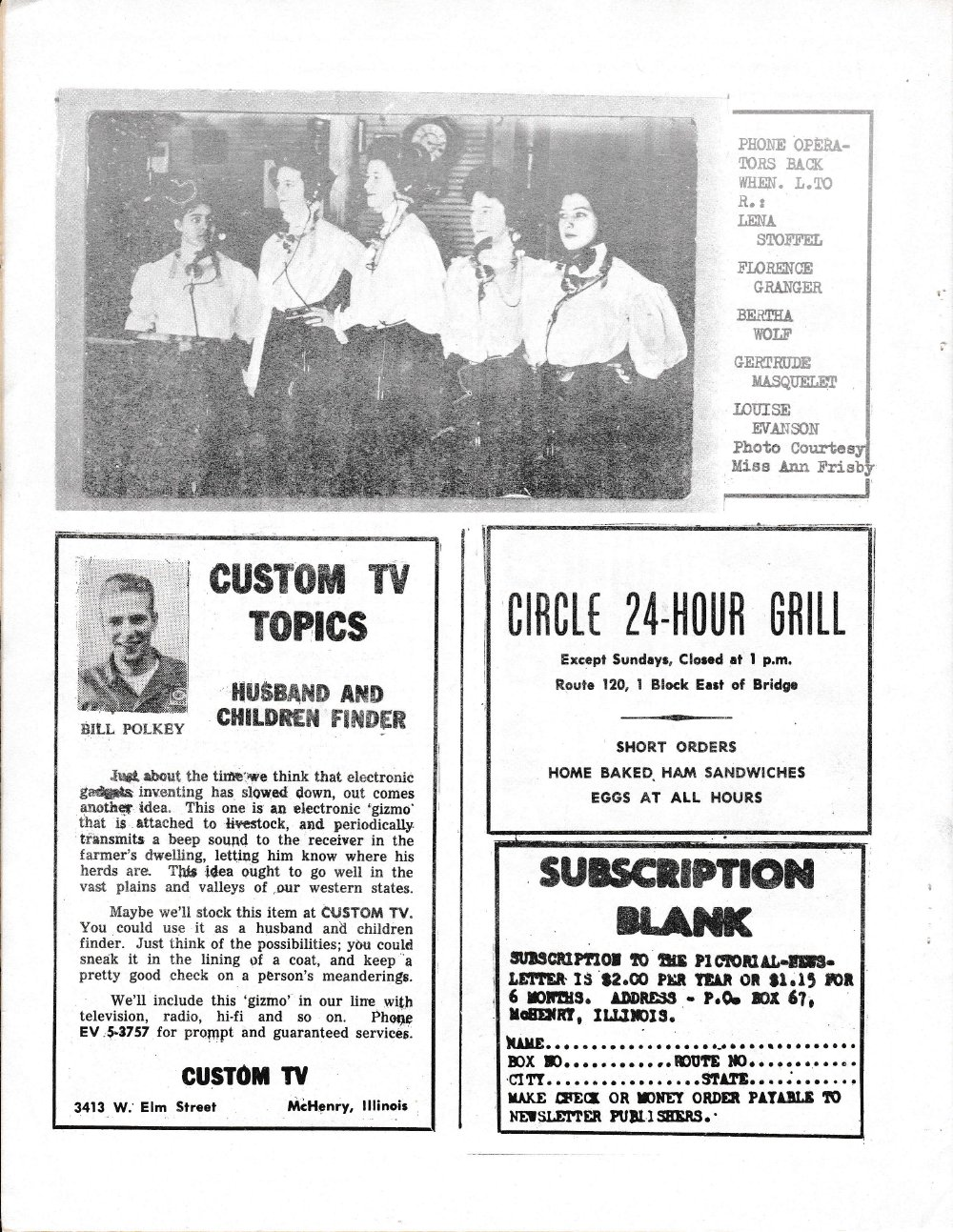 The Pictorial Newsletter: July 19, 1961