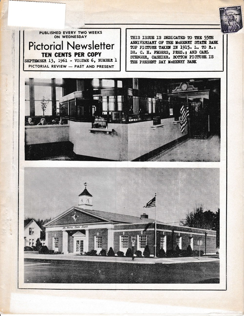 The Pictorial Newsletter: September 13, 1961
