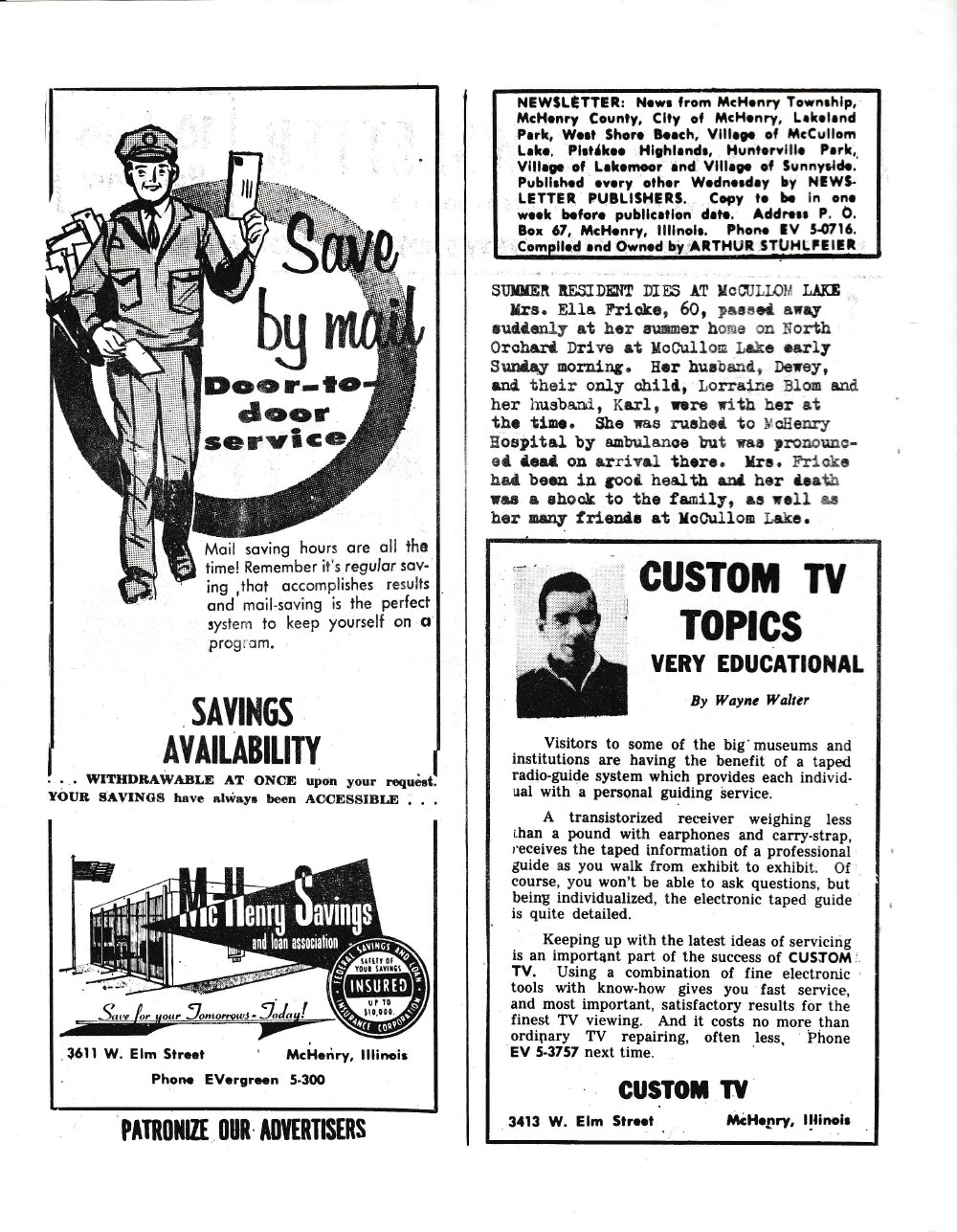 The Pictorial Newsletter: October 11, 1961