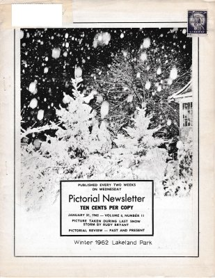 The Pictorial Newsletter: January 31, 1962
