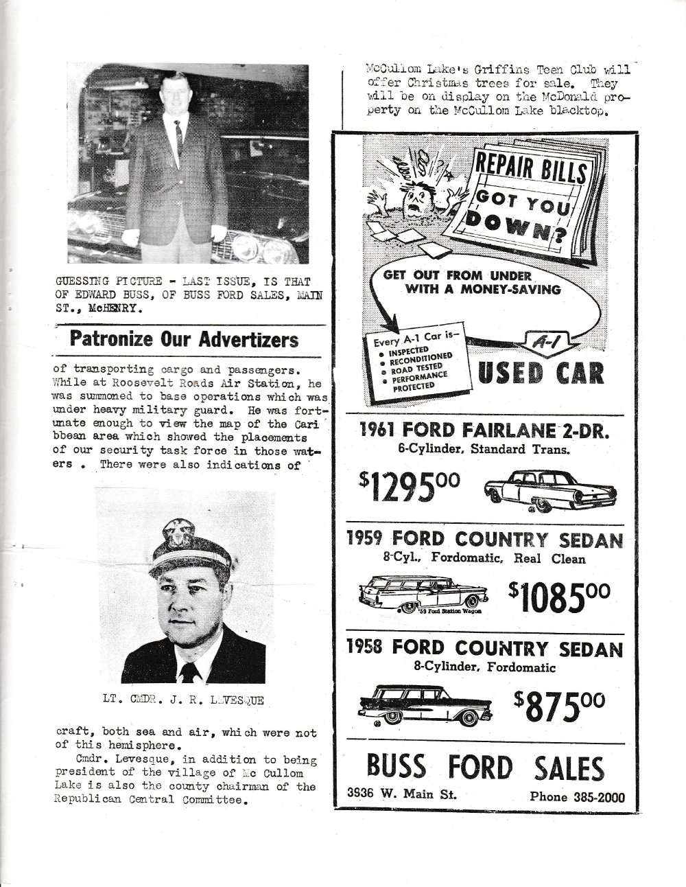 The Pictorial Newsletter: December 5, 1962
