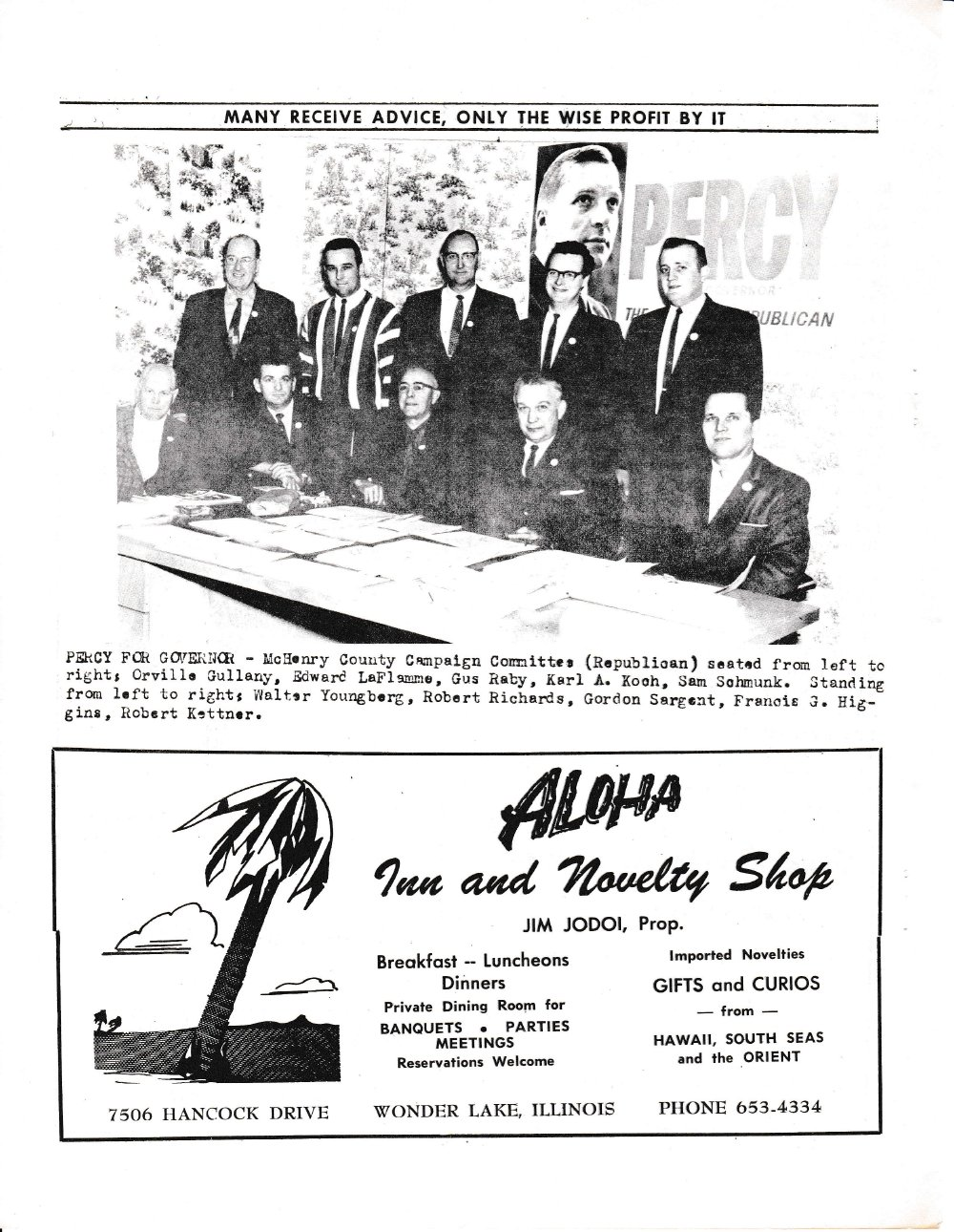 The Pictorial Newsletter: March 11, 1964