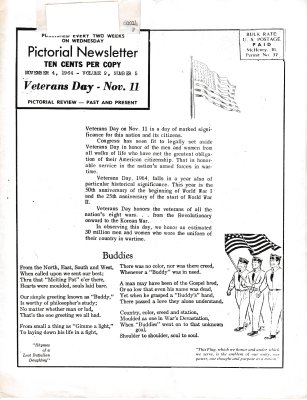 The Pictorial Newsletter: November 4, 1964