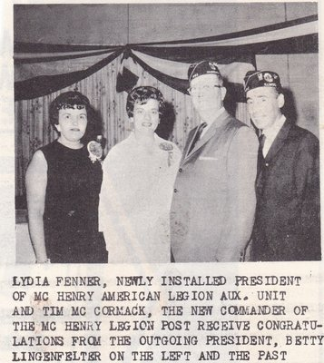 Newly Installed American Legion President