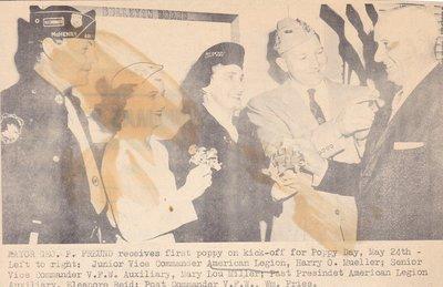 Mayor Receives First Poppy