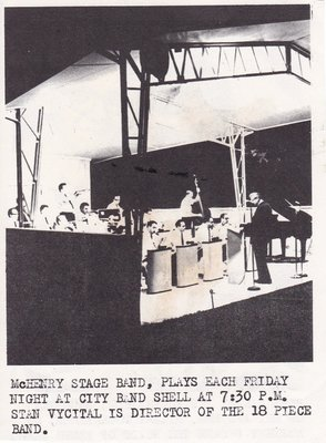 Advertisement for the McHenry Stage Band