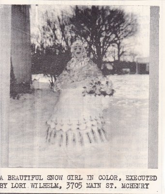 Beautiful Snow Girl by Lori Wilhelm