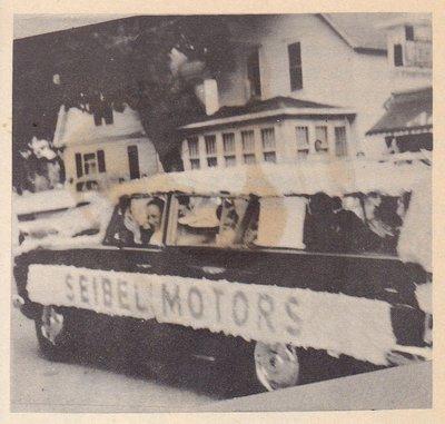 Siebel Motors Float in Fiesta Day Parade.
