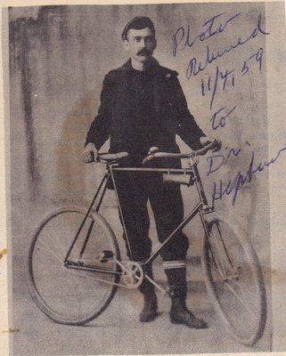 Dr. Hepburn and Bicycle.