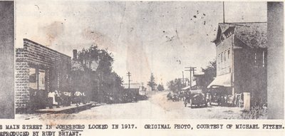 Downtown Johnsburg in 1917.