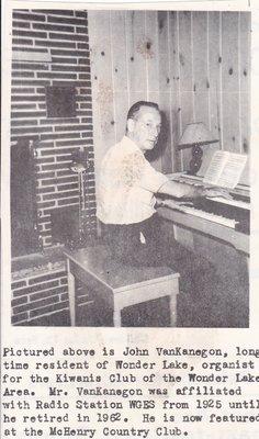 John VanKanegon organist for the Wonder Lake Kiwanis club.