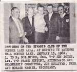 Officers of the Kiwanis Club at Mathews Hall