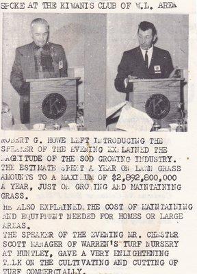 Robert Howe & Chester Scott Speaking