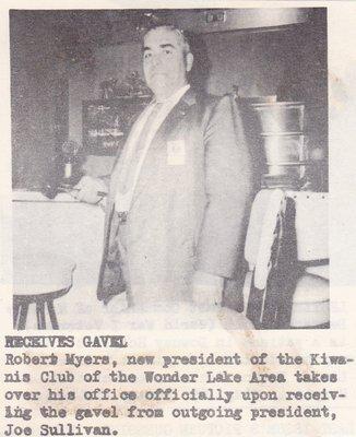 Robert Myers Being Sworn In As New Kiwanis President.