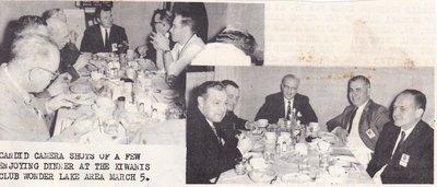 Kiwanis Club Dinner In Wonder Lake Area.