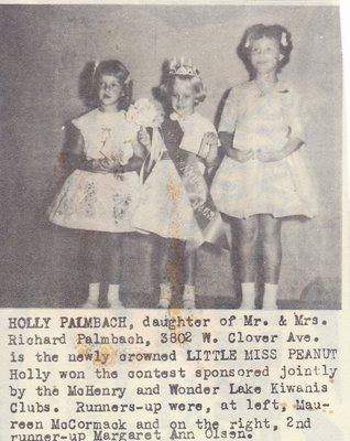 Little Miss Peanut Winners Sponsored By Kiwanis