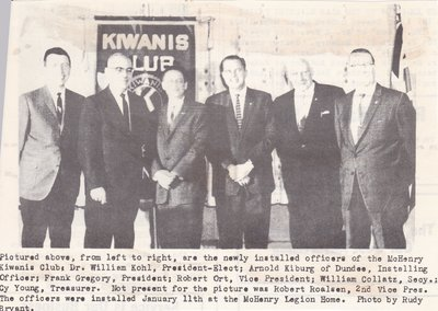 New Kiwanis Officers at the New Legion Home