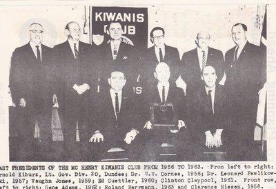 Kiwanis Club Past Presidents - 1956-1963