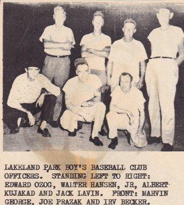 Lakeland Park Boy's Baseball Officers