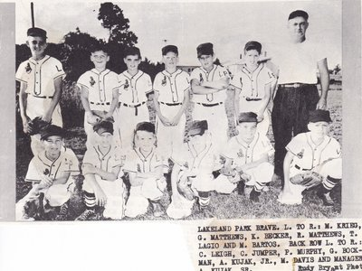Lakeland Park Braves Little League Baseball Team