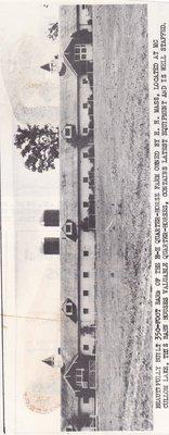 Beautifully Built 350-Foot Barn of the H-H Quarter-Horse Farm.