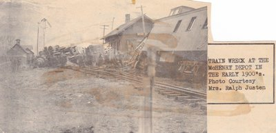 Train Wreck At The McHenry Train Station In 1908.