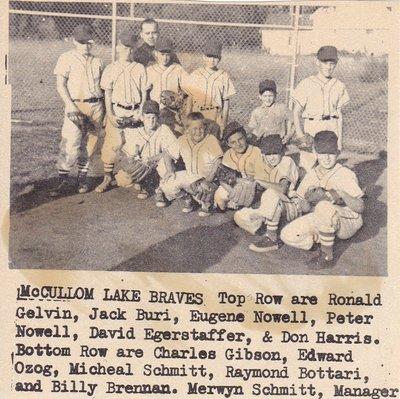 The McCullom Lake Braves in 1959.