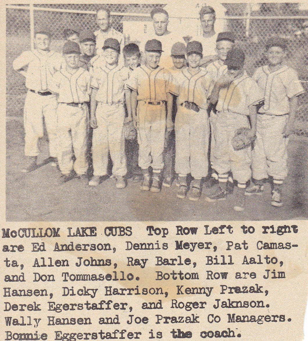 The McCullom Lake Cubs From 1959.