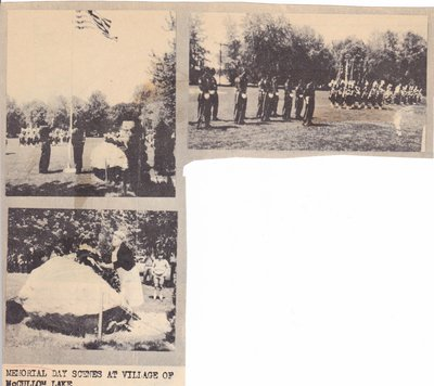 Memorial Day Scenes at Village of McCullom Lake