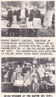 1962 Easter Egg Hunt Winners of McCullom Lake.