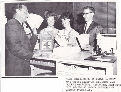 McHenry State Bank Staff Receiving Christmas Club Checks
