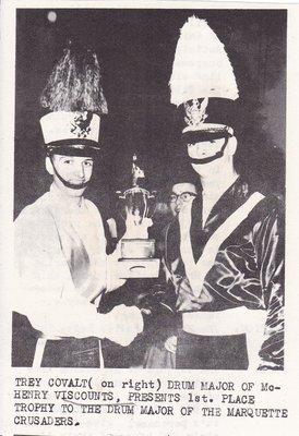 Trey Covalt Drum Major Receiving Trophy