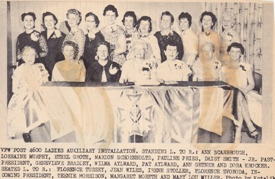 Ladies Auxiliary Installation
