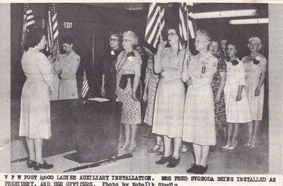 VFW Ladies Auxiliary President Installation