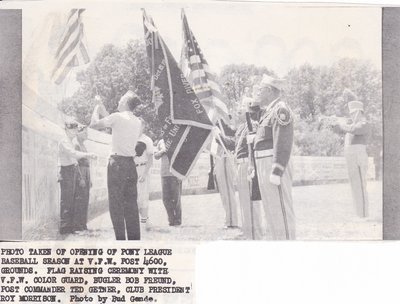 Flag Raising Ceremony At The Opening of Pony League