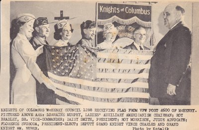 Knights of Columbus McHenry County Receiving Flag
