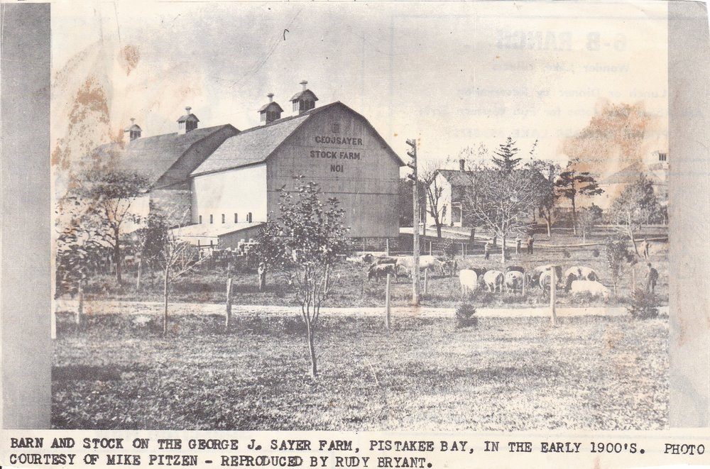 George J. Sayer Farm Sometime Around 1900