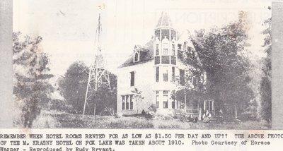 M. Krasny Hotel of Fox Lake Taken Around 1910