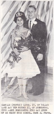 Homecoming King & Queen of 1958