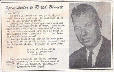 Obituary: Ralph Bennett