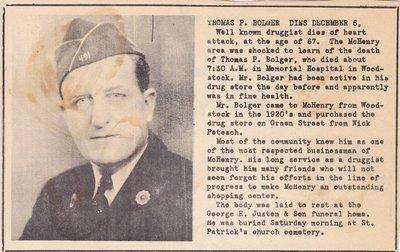 Obituary: Thomas P. Bolger