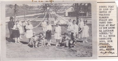 School Children Play At Landmark School in 1918
