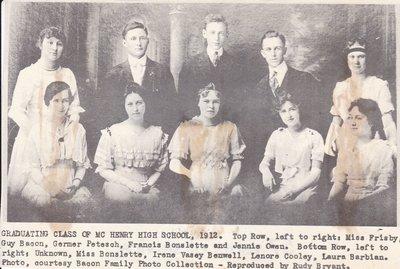 Graduating Class of McHenry High School, 1912