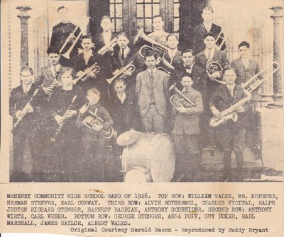 McHenry High School Band of 1926