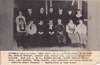 McHenry High School's Sophmore Class of 1916