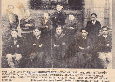 Boy's Glee Club of McHenry Community High School of 1926