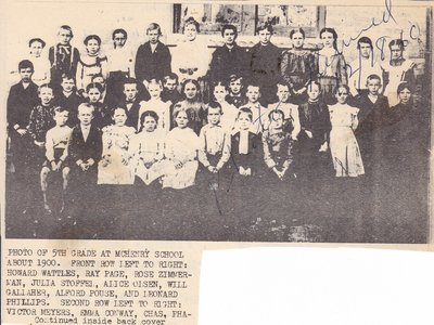 5th Grade School at McHenry School in 1904