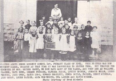 1st Grade Class In McHenry School in 1904